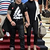 Jennifer Lopez and Casper Smart left Miami Beach for the Dance Again Tour.