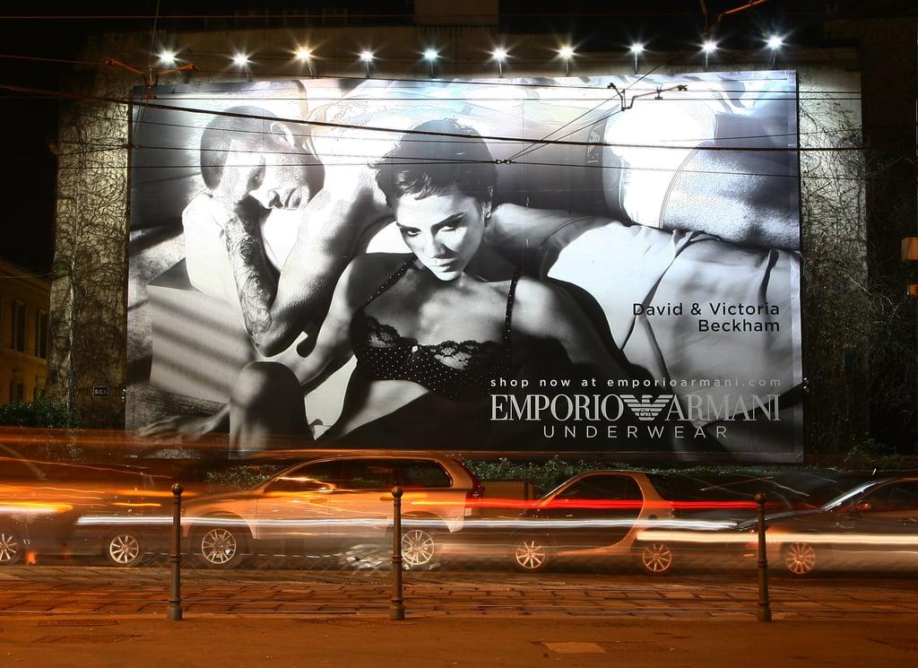 Victoria and David Beckham Starred in Armani Underwear Ads