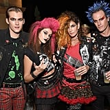 Cindy Crawford and Her Family as Punk Rockers