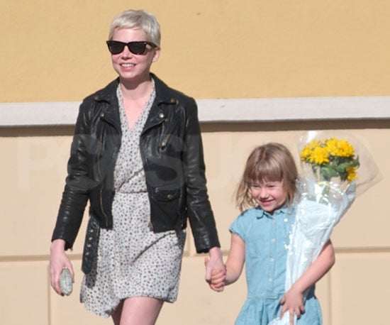Slide Picture of Michelle Williams and Matilda Ledger in LA