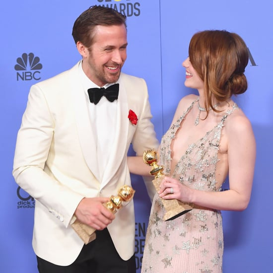 Ryan Gosling Emma Stone's Reaction to Ryan and Andrew's Kiss
