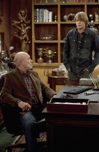 Hector Elizondo and Christoph Sanders in ABC's Last Man Standing.  Photo copyright 2011 ABC, Inc.