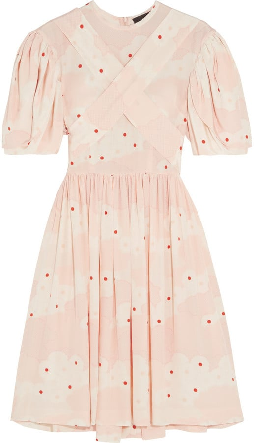 Simone Rocha Printed Silk Mini Dress (£895)