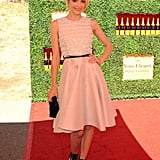 Jaime King struck a ladylike pose at the 2nd annual Veuve Clicquot Polo Classic.