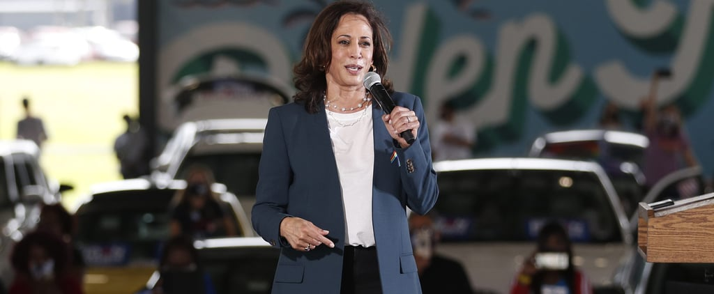 Kamala Harris Dances in the Rain Wearing Converse Sneakers