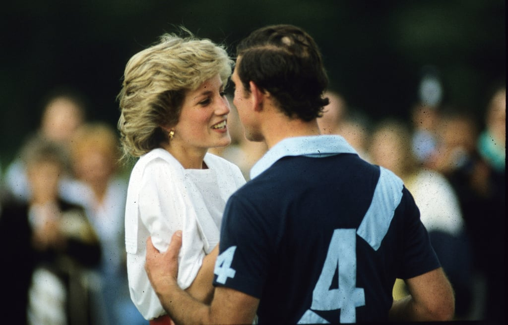 Prince Charles embraced Diana during a polo match at Cirencester Park in Enlgand in July 1985.