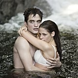 Kristen Stewart and Robert Pattinson play out Bella and Edward's famous honeymoon waterfall scene.