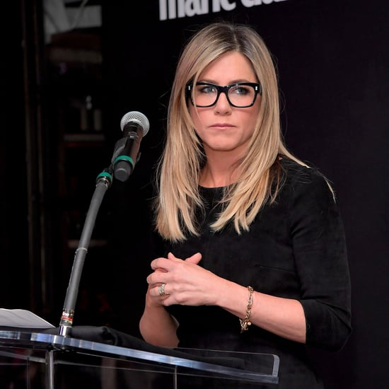 Jennifer Aniston's Black Frame Glasses
