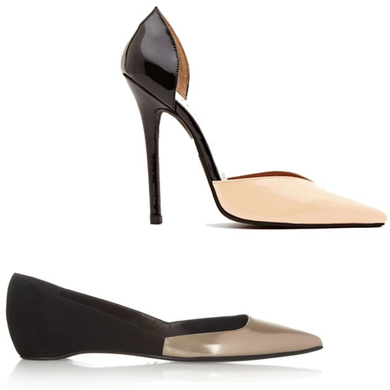 Above: Nasty Gal Delmara Pumps  ($138) Below: Pierre Hardy Patent Leather and Suede Flats ($595) Related: Loafers For Under $50