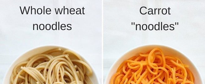 Veggie Noodles Versus Whole Wheat Noodles
