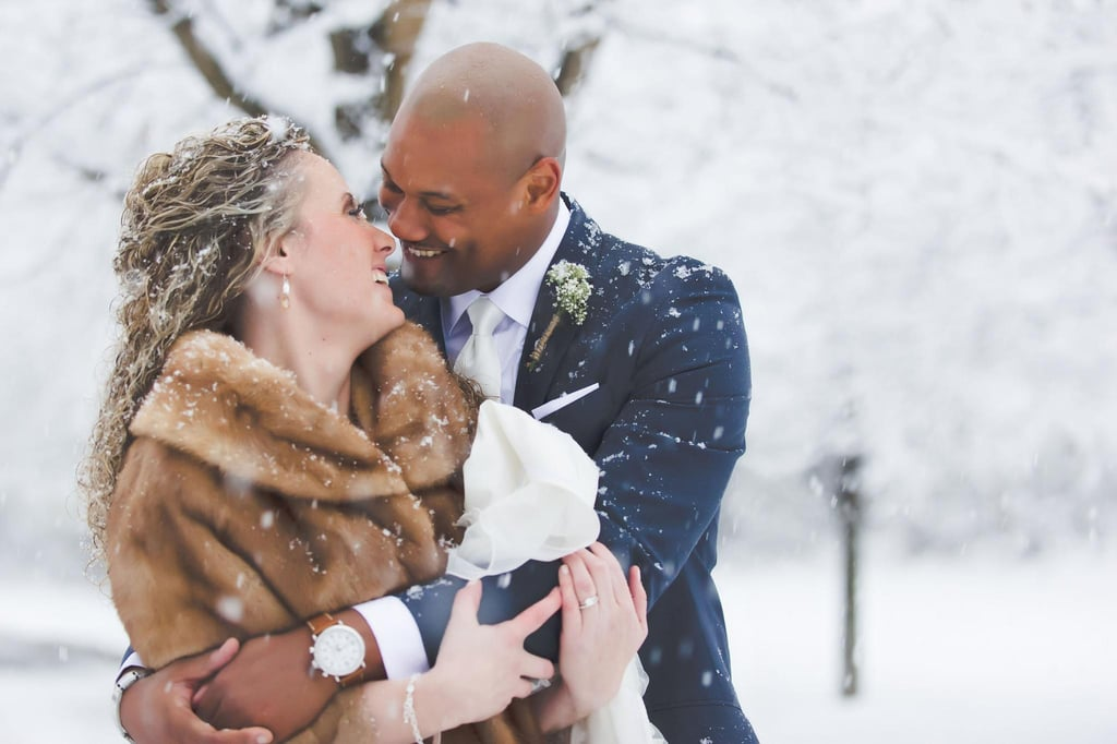 This Stunning Detroit Wedding May Make You Nostalgic For the Snow