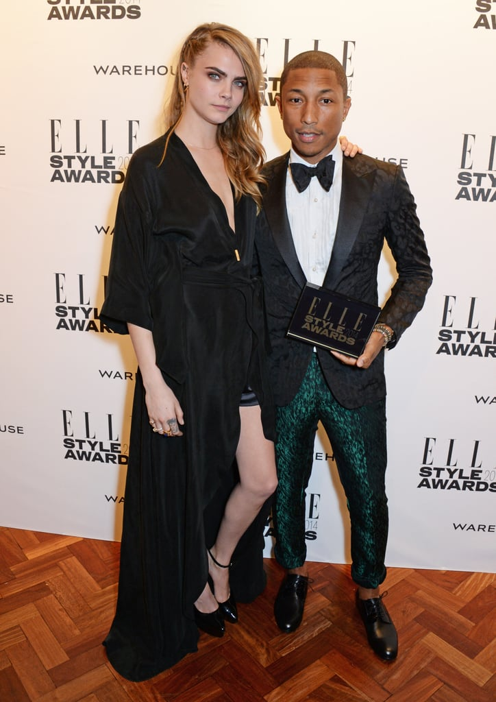 Pharrell Leaves His Hat at Home For the Elle Style Awards