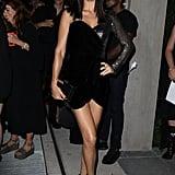 Wearing a Sexy Black Mini Dress at the Mert Alas x Marcus Piggot Book Launch Party