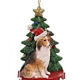 Kurt Adler Dog with Christmas Tree Ornament