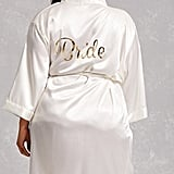 Forever 21 Pretty Robes Metallic Bride Robe