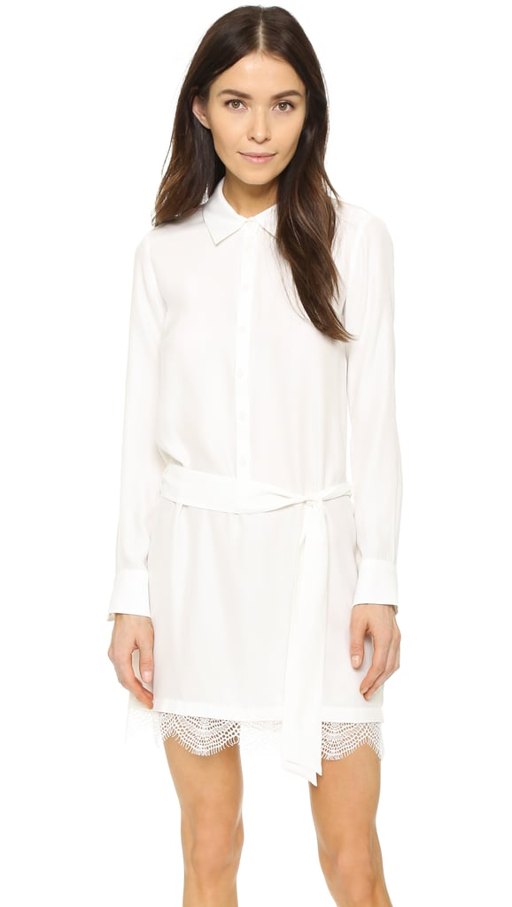 David Lerner Henley Shirtdress with Lace ($275)