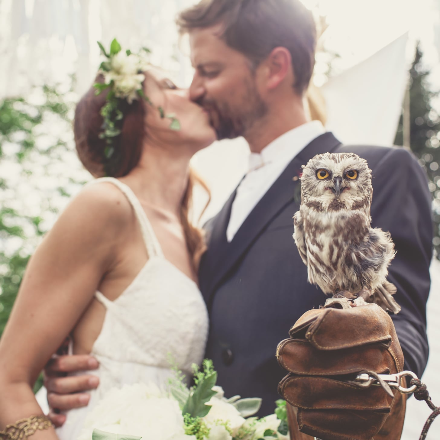 Forest Wedding With Tepee and Owl | POPSUGAR Love & Sex