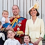 June: Kate and Will looked picture-perfect at Trooping the Colour with their kids.