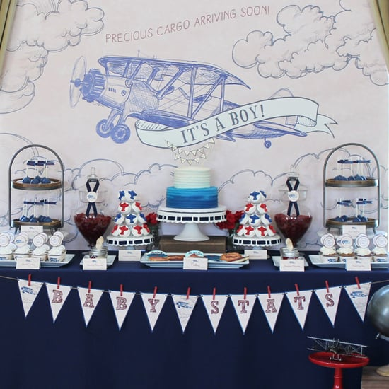 Vintage Airplane Baby Shower