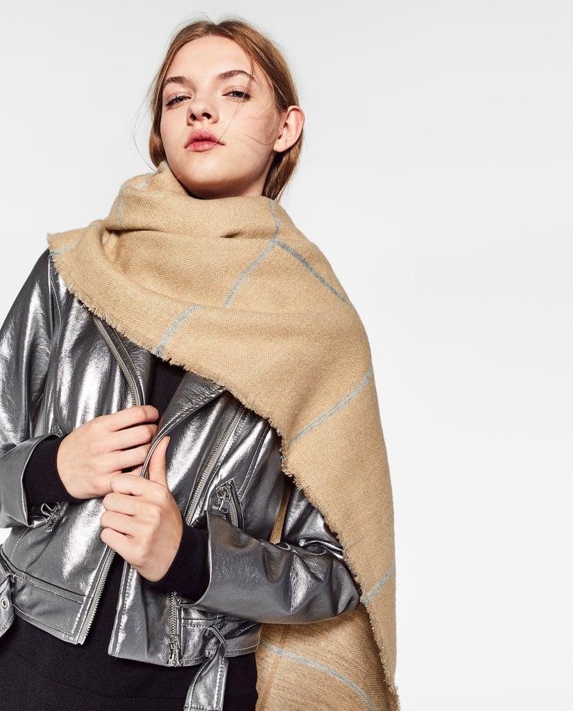 Zara Double-Faced Checked Scarf ($35)