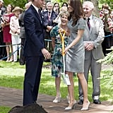 William and Kate planted a tree together during their Canada trip in July 2011.