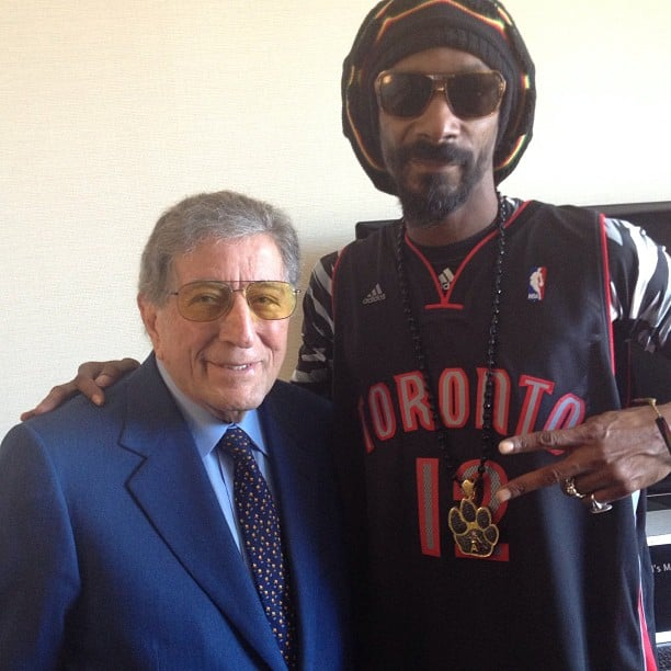 Snoop Lion linked up with Tony Bennett for a music charity event. Source: Instagram user snoopdogg