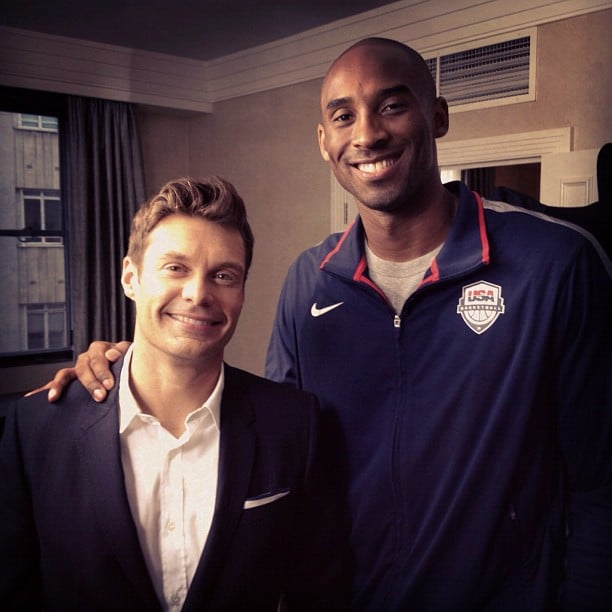 Ryan Seacrest interviewed Kobe Bryant in London. Source: Instagram user ryanseacrest