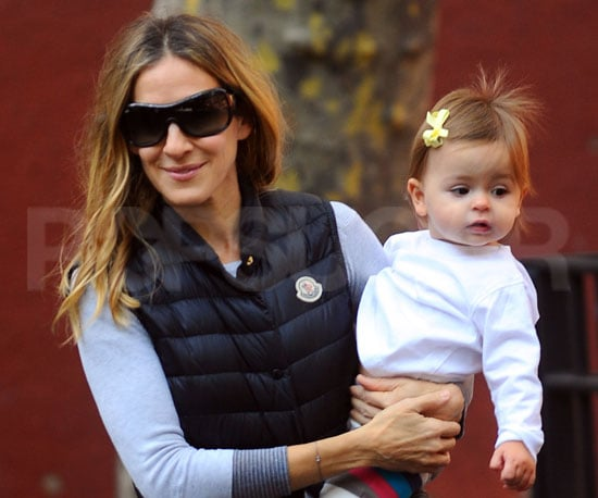 Slide Picture of Sarah Jessica Parker and Twins Loretta and Tabitha at a Park in NYC