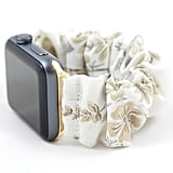 Golden Flowers Scrunchie Watch Band