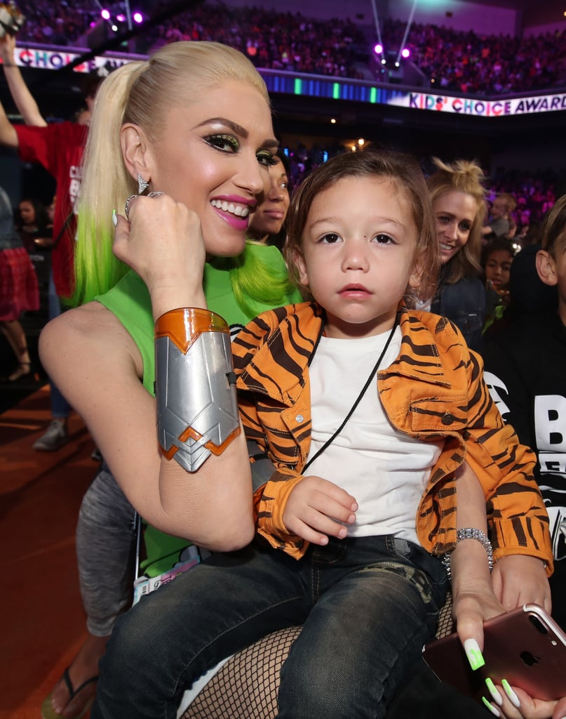 Gwen Stefani Bonds With Her Boys at the Kids' Choice Awards