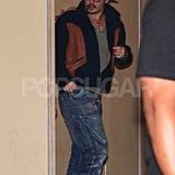 Johnny Depp made his way out of a concert.