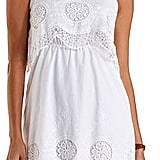 Charlotte Russe Embroidered & Layered Flounce Dress