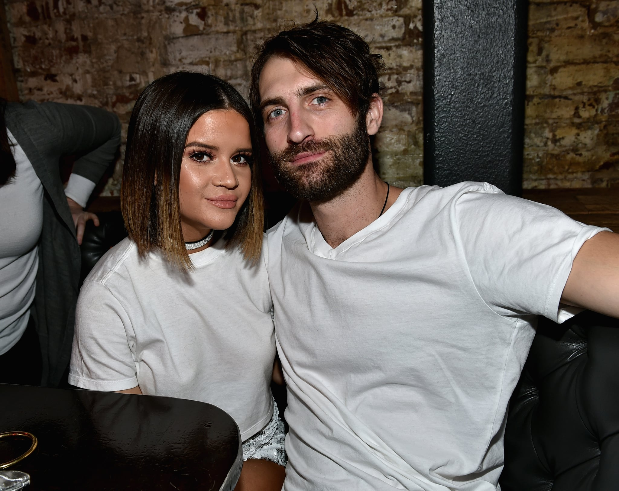 NASHVILLE, TN - JANUARY 14: Maren Morris and Ryan Hurd attend the Nashville Opening of Dierks Bentley's Whiskey Row on January 14, 2018 in Nashville, Tennesse  (Photo by John Shearer/Getty Images for Dierks Bentley's Whiskey Row Nashville)