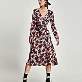 Zara Floral Print Midi Dress