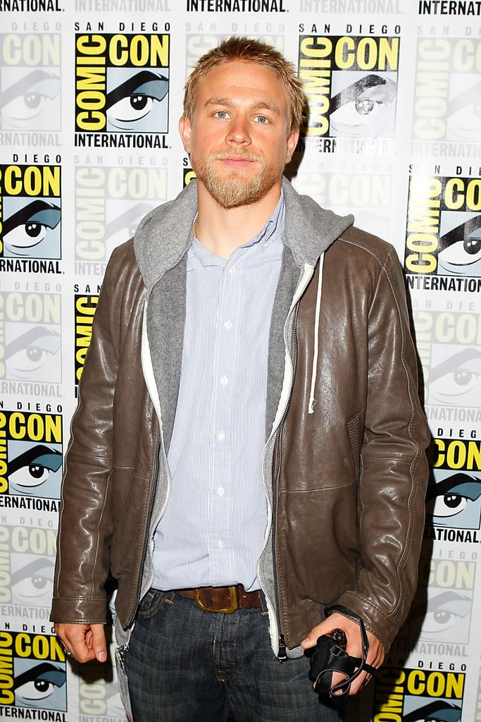 Sons of Anarchy star Charlie Hunnam arrived at the show's press conference during Comic-Con in 2011.