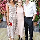 Kaia Gerber, Millie Bobby Brown, and Presley Gerber
