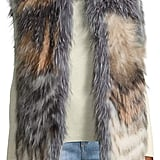 Pure Navy Patchwork Fox Fur Vest