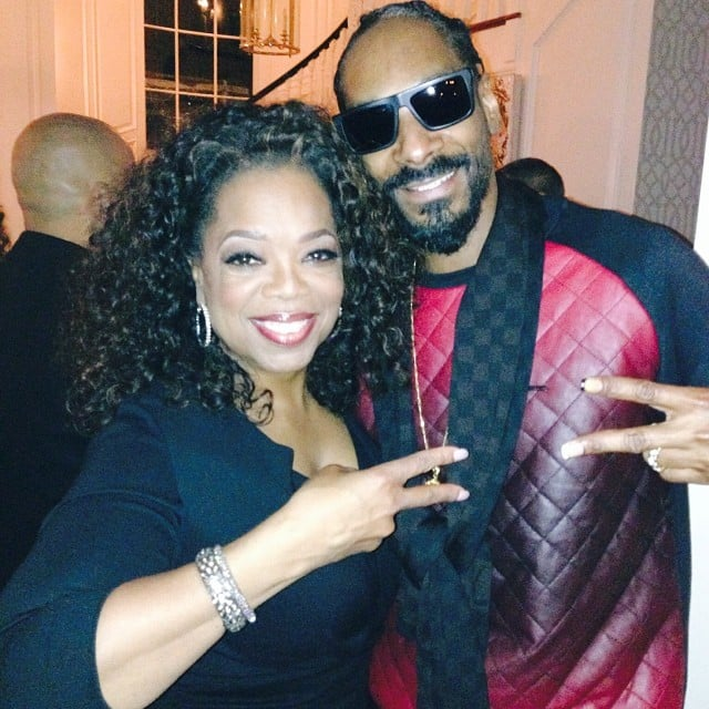 "Oprah posed with Snoop Lion, writing, ""Our first meeting. Say WHAAAT??!"" We have no words. Source: Instagram user oprah"
