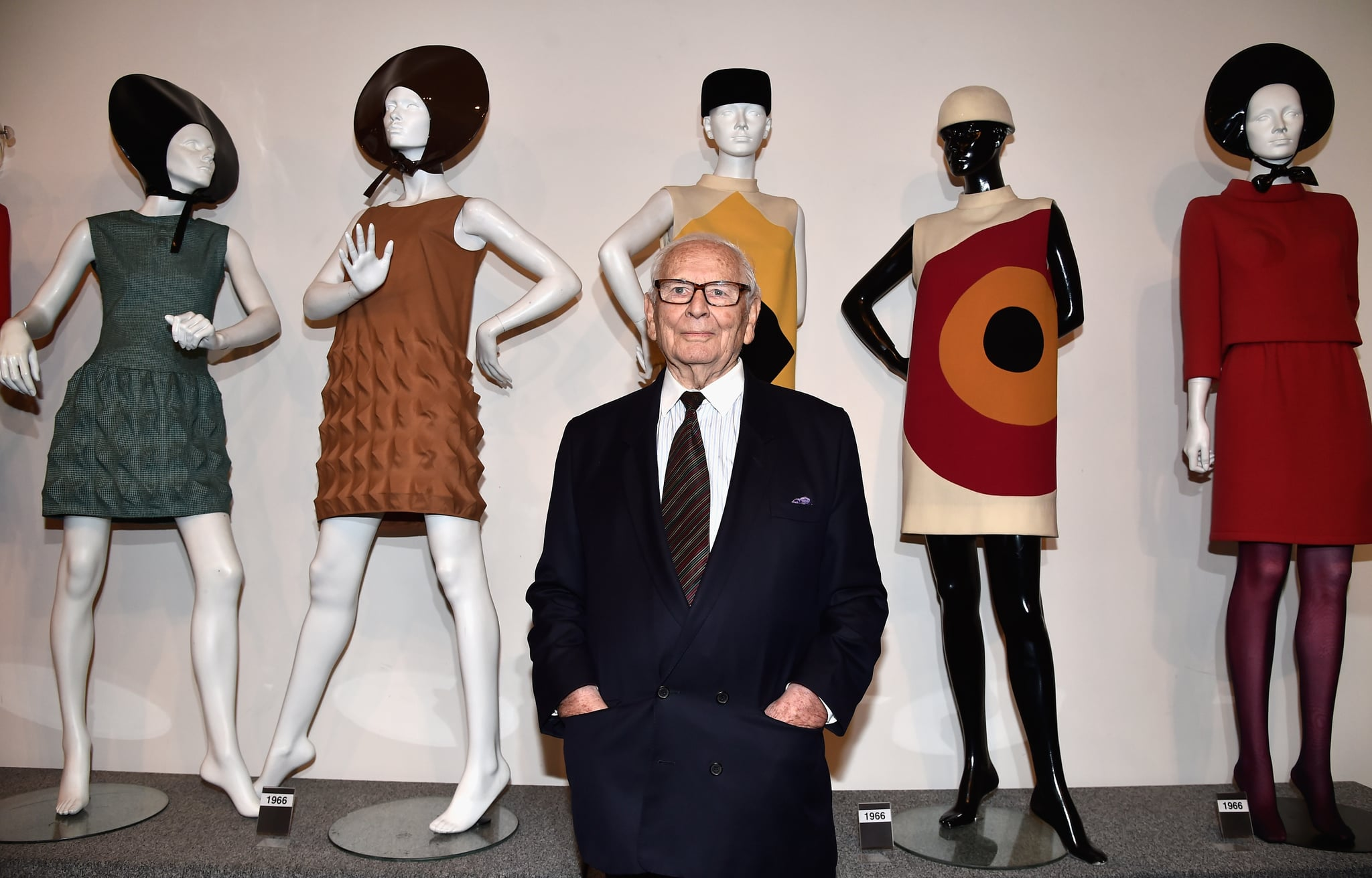 PARIS, FRANCE - NOVEMBER 13:  Pierre Cardin attends an Opening Cocktail at Musee Pierre Cardin on November 13, 2014 in Paris, France.  (Photo by Pascal Le Segretain/Getty Images)
