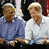 In September, Barack had a boys' day out with Prince Harry at the Invictus Games in Canada.
