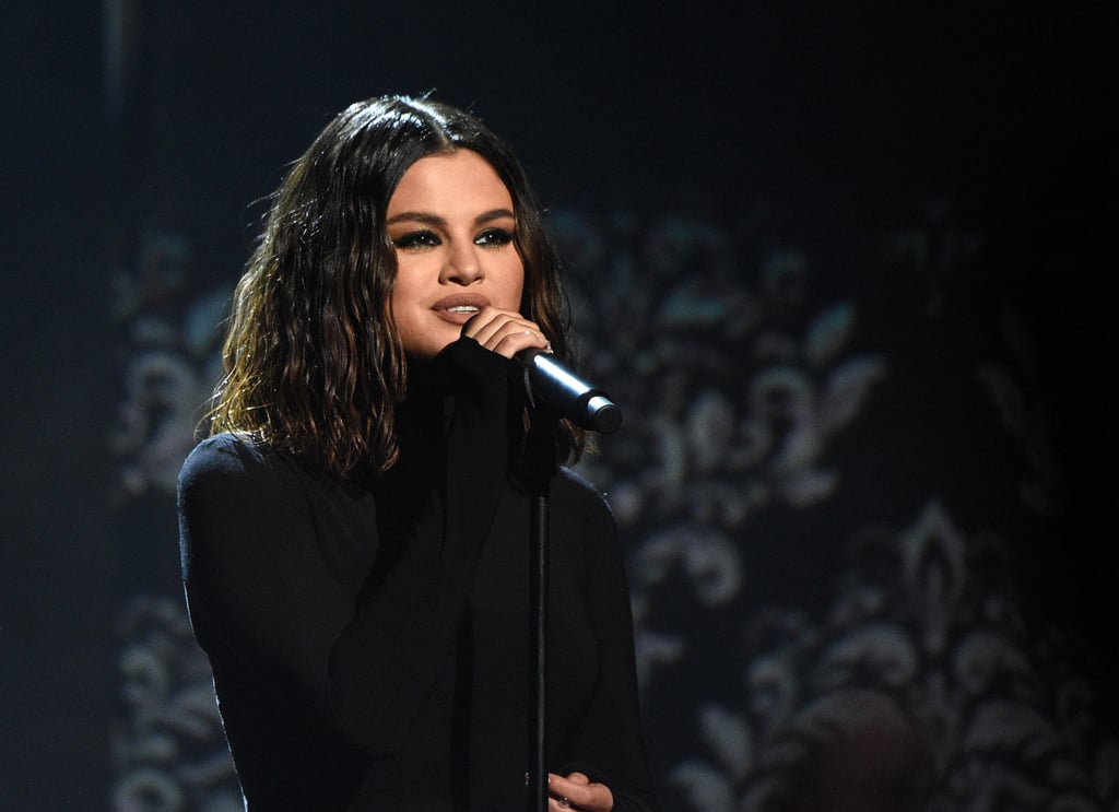 """Selena Gomez made a triumphant return to the American Music Awards in LA on Sunday. After steaming up the red carpet in a highlighter-green Versace dress, the 27-year-old singer took the AMAs stage for the first time in two years for the television premiere of her new singles. Gomez started things off on an emotional note as she belted out """"Lose You to Love Me"""" in a black gown before switching into a sparkly leotard and getting down to """"Look at Her Now."""" Gomez released both tracks in October, and """"Lose You to Love Me"""" is actually her first song to ever hit No. 1 on the Billboard Hot 100 chart. """"This song was inspired by many things that have happened in my life since releasing my last album,"""" Gomez previously said about the Justin Bieber-inspired single. """"I want people to feel hope and to know you will come out the other side stronger and a better version of yourself."""" Check out Gomez's performance ahead.      Related:                                                                                                           Presenting All the Winners of the 2019 American Music Awards"""