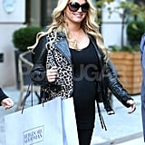 Jessica Simpson smiled on her way out of her NYC hotel.