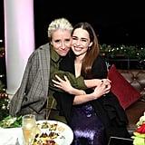 Emma Thompson and Emilia Clarke at the Last Christmas Premiere