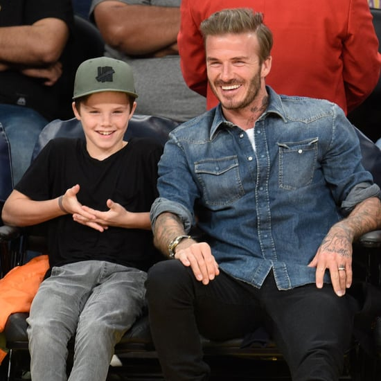 David Beckham With Sons at Lakers Game April 2016