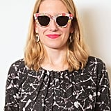 If you're a veteran of the pointed cat eye, then take things one step further with these floral frames from Kate Spade Saturday ($70). We amped up the bold look with Bite Lipstick in Coral ($24).