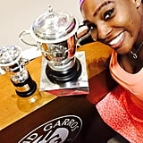 Serena Williams's endurance on and off the court proves how much she deserved to be Sports Illustrated's Sportsperson of the year. This selfie captured that.