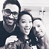 "Arden Cho: ""Great times with @tylerl_hoechlin @ianbohen & all of you at #DOTWNJ!"""