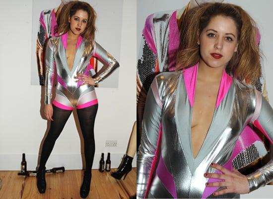 Peaches Geldof in Silver Jumpsuit Pam Hogg