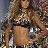 Alessandra Ambrosio posed at the Victoria's Secret fashion show in Hollywood in November 2007.