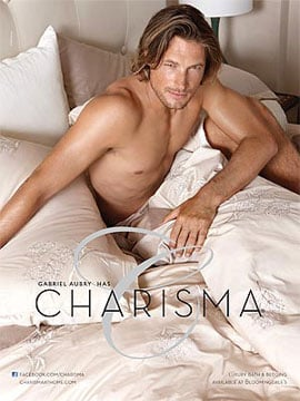 PopSugar Poll: Gabriel Aubry Strikes a Shirtless Pose in Bed — Wanna Crawl in or Sleep Alone?